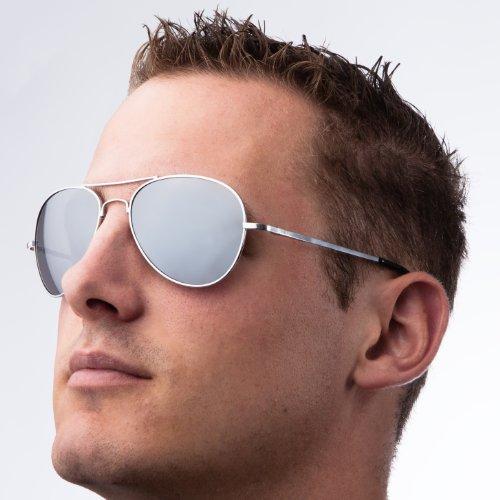 Ultrasport Aviator - Gafas de sol, color plateado 5.99€