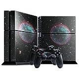 Weltraum 10084, Sterne, Designfolie Sticker Skin Aufkleber Schutzfolie mit Farbenfrohem Design für Playstation 4 CUH 1200