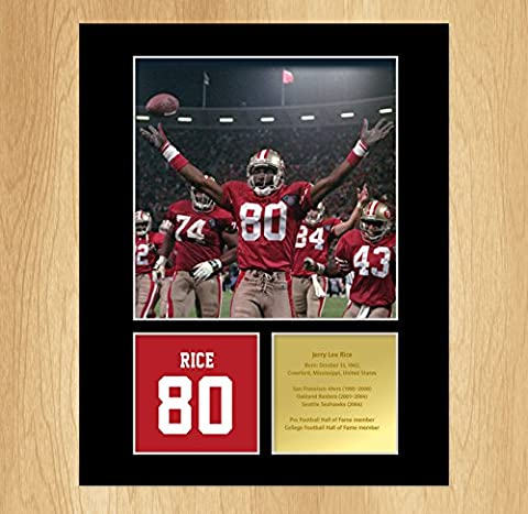 Jerry Rice Signed Mounted Photo Display San Francisco 49ers by My Prints