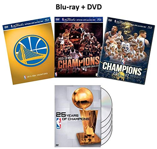 Ultimate NBA Championship Blu-ray & DVD Collection: NBA 25 Years of Champions (nur DVD) / 2015-2016 Champions: Golden State Warriors / 2016-2017 Champions: Cleveland Cavaliers / 2017-2018 Champions: