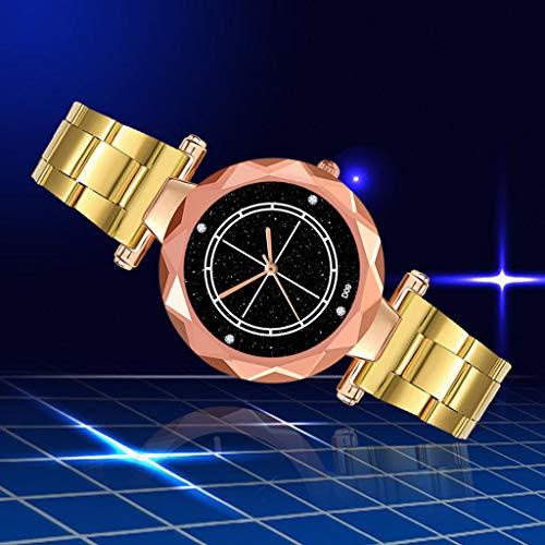 REALIKE Damen Armbanduhren Einfach Runde Keine Nummer Nachthimmel Edelstahl Mesh-Gürtel Uhren Mehrfache Farben Freizeit Ultradünn Britische Artart und Weise Neue High End Geschäftsuhr Business