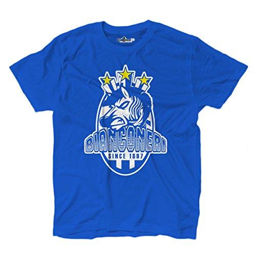 KiarenzaFD Camiseta Hombre zebrus bianconeri Ultras Tifo Fútbol Estadio Curva Torino 3, Bright Royal...