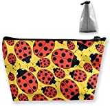 Cosmetic Bag - Travel Toiletry Pouch Makeup with Zipper (Ladybug)