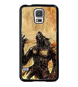 HiFi High Glossy Designer Phone Back Case Cover Samsung Galaxy S5 Neo :: Samsung Galaxy S5 Neo G903F :: Samsung Galaxy S5 Neo G903W ( Wolf Man Full Moon )