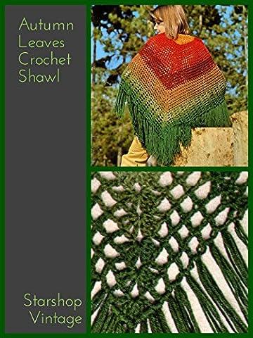 Autumn Leaves: Vintage 1970s Crochet Shawl Pattern