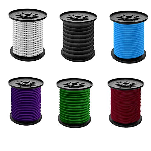 S SIENOC Expanderseil Gummiseil Gummischnur Spannseil Planenseil Gummileine elastisches Seil spannen Gummikordel und befestigen Gummileine Seil