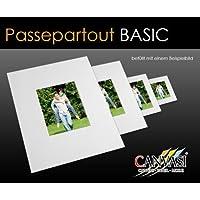 Canvasi Basic passepartouts 1,5mm de Grosor–Color Blanco–en 25tamaños