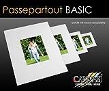 Canvasi Basic Passepartouts 1,5mm stark - weiß - in 25 Größen Größe 15x20cm - (Ausschnitt 10x15cm)