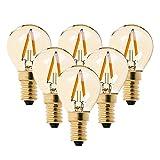 6er-Pack G40 Edison Vintage-1W LED-Glühlampe, 2200K Warmweiß ,Mittel Schraube E14, getönter Glasbeschichtung,100 Lumen Ersetzt 10 Watt Glühlampen, CRI>90 ,No Dimmbar