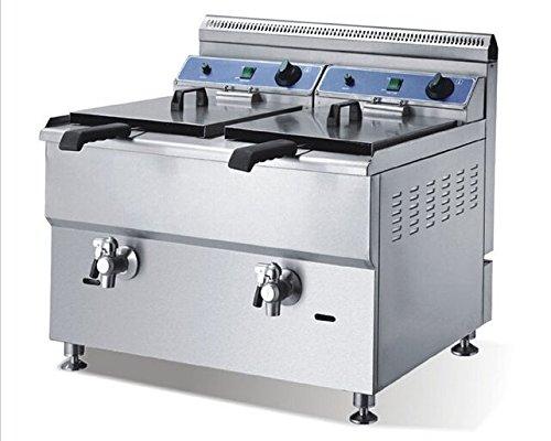 Preisvergleich Produktbild Gowe Zwei Zylinder Ventil Gas hochofens Pommes Frites Fried Chicken Maschine Ofen Gas Fritteuse Edelstahl Körper