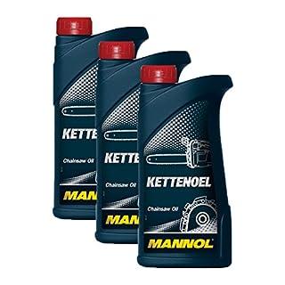 3X MANNOL MN1101-1 Kettenöl Sägekettenöl Garten Öl 1L