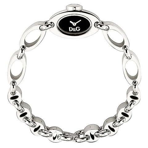 D&G Dolce&Gabbana Damen-Armbanduhr THREADS SS BLK DIAL BRC DW0338