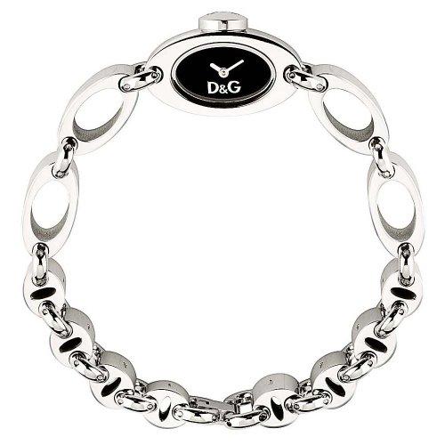 Dolce & Gabbana DS SS BLK DIAL BRC DW0338 - Reloj de mujer de cuarzo (japonés), correa de acero inoxidable color plata