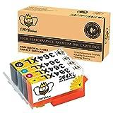 CMYBabee 4-Pack Remplacement Encre Cartouche pour HP 364XL 364 XL (1 Noir, 1 cyan, 1 magenta, 1 jaune) Grande capacité Utilisé dans HP Photosmart 5510 5511 5512 5514 5515 5520 5522 5524 6510 6520 6512 6515 7510 7520 7515 B8550 B8558 C5370 C5373 C5324 C6388 D5460 D5463 B110a B110c B010a B010b B111a B109a B109b C309a C309c B209a B210a HP Deskjet 3070A