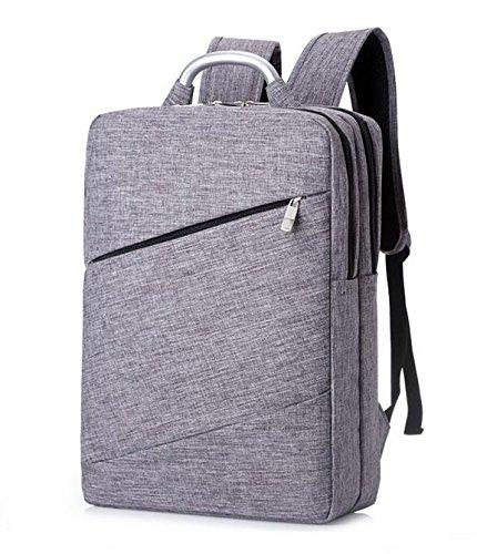 Z&HXLaptop Tasche Rucksack Tasche Laptop wasserdicht Multifunktions-Mode l?ssig Grey