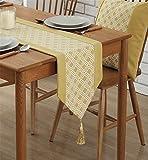 Sucastle® 32x200cm Polyester Chemin de Table Cuisine Imperméable Décoration en Aspect naturel