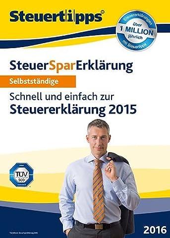 SteuerSparErklärung 2016 für Selbstständige (für Steuerjahr 2015) [PC Download]