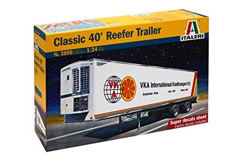 Italeri 510003896 - 1:24 Kühlanhänger 40 feet, Classic (Toy Travel Trailer)