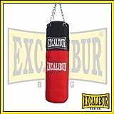 EXCALIBUR Boxsack ALLROUND 80cm Länge gefüllt Aufhängekette Drehwirbel handgefertigt Nylon Textilfüllung