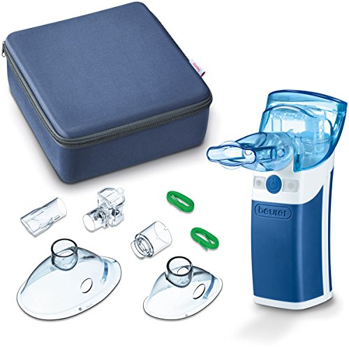 Beurer IH 50 Inhalator mit Schwingmembran-Technologie, Medizinprodukt mit umfangreichem Zubehör, auch für Kinder geeignet