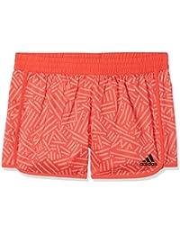 Adidas Yg TR Mar Pantalón Corto, Niñas, (Naranja/Rojo), 170 (14/15 años)