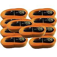 Lote de 10 correas de amarre con trinquete, de iapxy, 5 m, en paquete estándar naranja