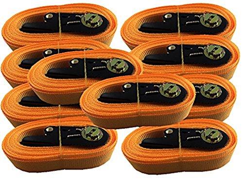 10x Zurrgurt Spanngurt mit Ratsche 6 Meter EN Norm Farbe: orange , iapyx