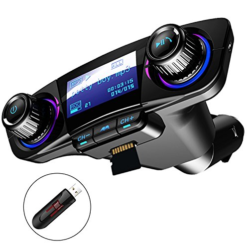tter Auto MP3-Player Handsfree Wireless Radio Audio Adapter mit Dual USB U Disk TF Karte AUX-Eingang Ausgang ()