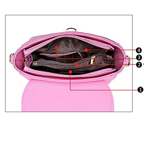 Frauen Top Griff Schulranzen Handtaschen Taschen Handtasche Multicolor Purple