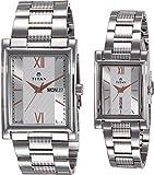 Titan Analog Multi Colour Dial Couple Watch,900242562SM01
