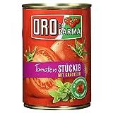 Oro di Parma Geschälte stückige Tomaten mit Kräutern 400g