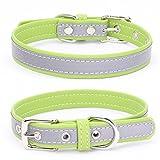 Balock Schuhe Welpen Hundehalsband,Einstellbare Mikrofaser Halsband Puppy Cat Halskette,Hundehalsbänder für Welpen,Katzen,für Mädchen Jungen (Grün, M)