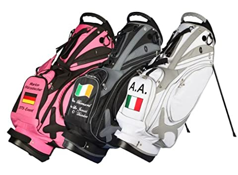 "Individuell bestickt! Stand Bag Muirfield ""Name/Nationalflagge"" von Kellermann Golf in"
