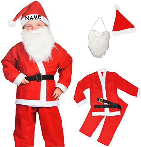 alles-meine.de GmbH 5 TLG. Kostüm Weihnachtsmann - 6 bis 9 Jahre - Gr. 122 - 146 - Karneval / Weihnachten / Nikolauskostüm / Nikolaus - Hose + Jacke + Mütze + Gürtel + Bart - für..