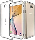 PLESURE Ultra Thin 0.3mm Clear Transparent Flexible Soft TPU Slim Back Case Cover for Samsung Galaxy J7 Prime - (Clear)