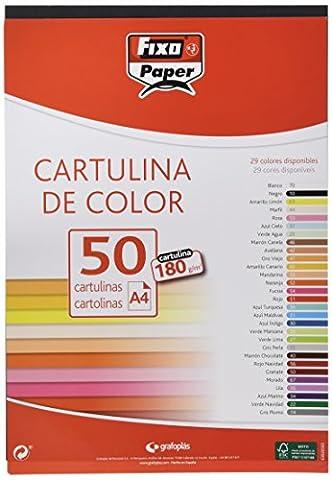 Fixo 11110310Pack de 50Feuilles de papier bristol A4 Couleur noire