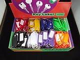 200 Stücke 8 Farben Schlüsselanhänger/Schlüsselschilder in Box aufklappbar