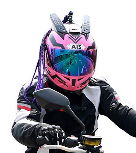 YOJDTD Casco moto Casco integrale Casco di sicurezza estivo Casco casco moto, Sao Samurai_XL