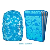 satch by ergobag 2er Set Zubehör Tripleflex Heftebox & Regencape Blue