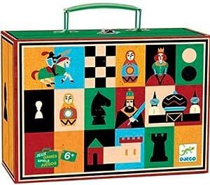 DJECO- Juegos de acción y reflejosAjedrezDJECOJuego Ajedrez y Damas, Multicolor (15)
