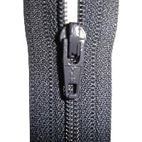 Estremità chiusa con ZIP YKK, per cucito, colore: grigio, ideali