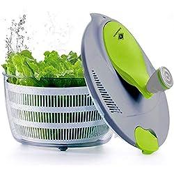 Kilokelvin Spinner à Salade en Plastique 4 litres Séchoir à Légumes Rapide-sans BPA