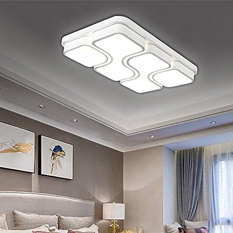 HG® 64W LED Deckenlampe Kaltweiß Deckenleuchte Design Angenehmes Licht wohnzimmer Beleuchtung Wandleuchte