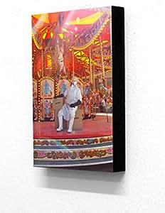 Kult KANVAS Sticker mural Cheval viande Plat à lasagnes Carrousel dismaland 20,3x 30,5cm Plaque/Bloc monté Imprimer...