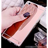 Fundas Huawei P8 Lite, LXHGrowH [Ultra Delgada] Carcasa con espejo para Huawei P8 Lite Cover silicona tpu protectora - LXHGrowH Cubierta