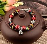 HRCxeuYunnan Ethnic-Style Armband Wilde süße Mädchen Hand String antike Ornamente Zubehör Summe der Farbe 1.