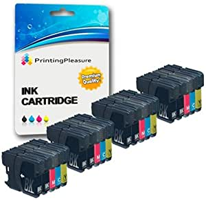 20 4 sets 4 black compatible lc1100 lc980 ink cartridges for brother dcp 145c dcp 163c dcp. Black Bedroom Furniture Sets. Home Design Ideas