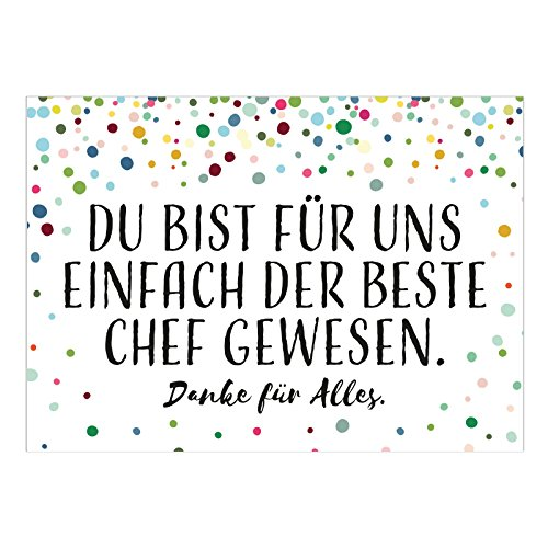 Große XXL Abschiedskarte mit Umschlag/DIN A4/Der beste Chef - persönlich/Ruhestand/Kündigung/Neuer Job/Rente/Chef/Chefin