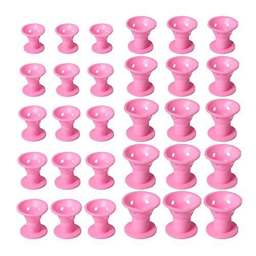 30 Silikon Frisurenhilfe Lockenwickler Haar Styling Locken Wickler Roller Spulen