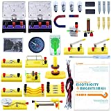 Teenii STEM Physics Science Lab Basic Circuit Learning Starter Kit Electricity and Magnetism Experiment for Kids School Students Electromagnetism Elementary Electronics